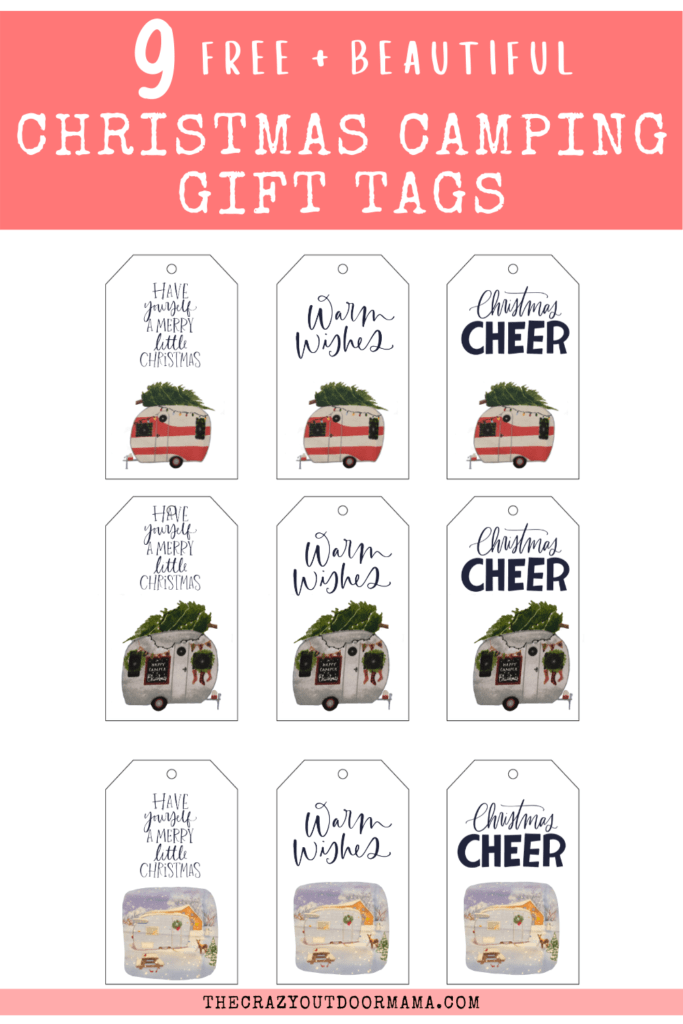 free printable camping themed christmas gift tags