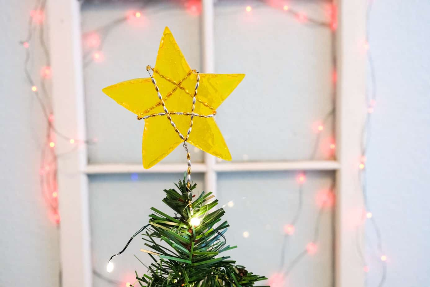 diy min star tree topper