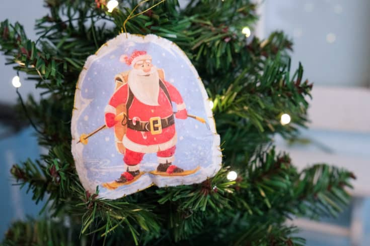 Modge Podge Photo Transfer DIY Christmas Ornament