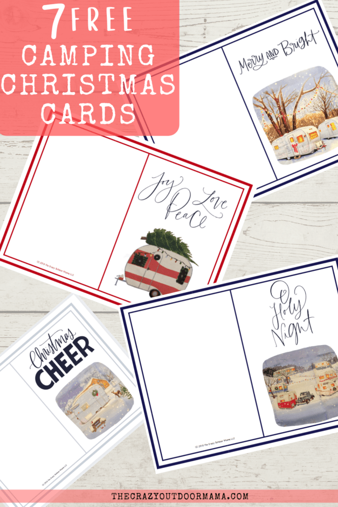 camping themed christmas cards