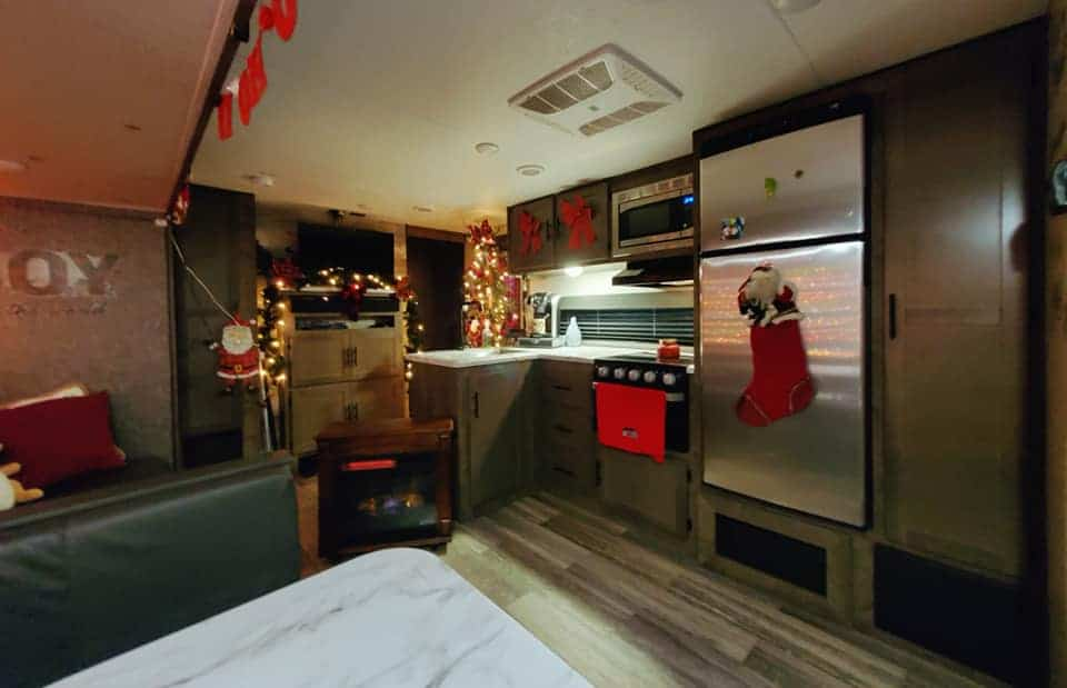 kitchen decor for holidays in rv