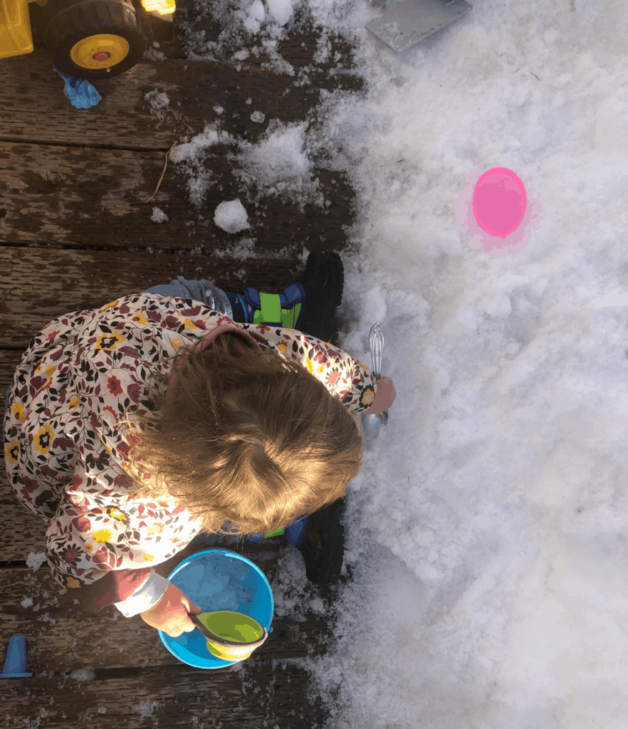 sand toys during winter