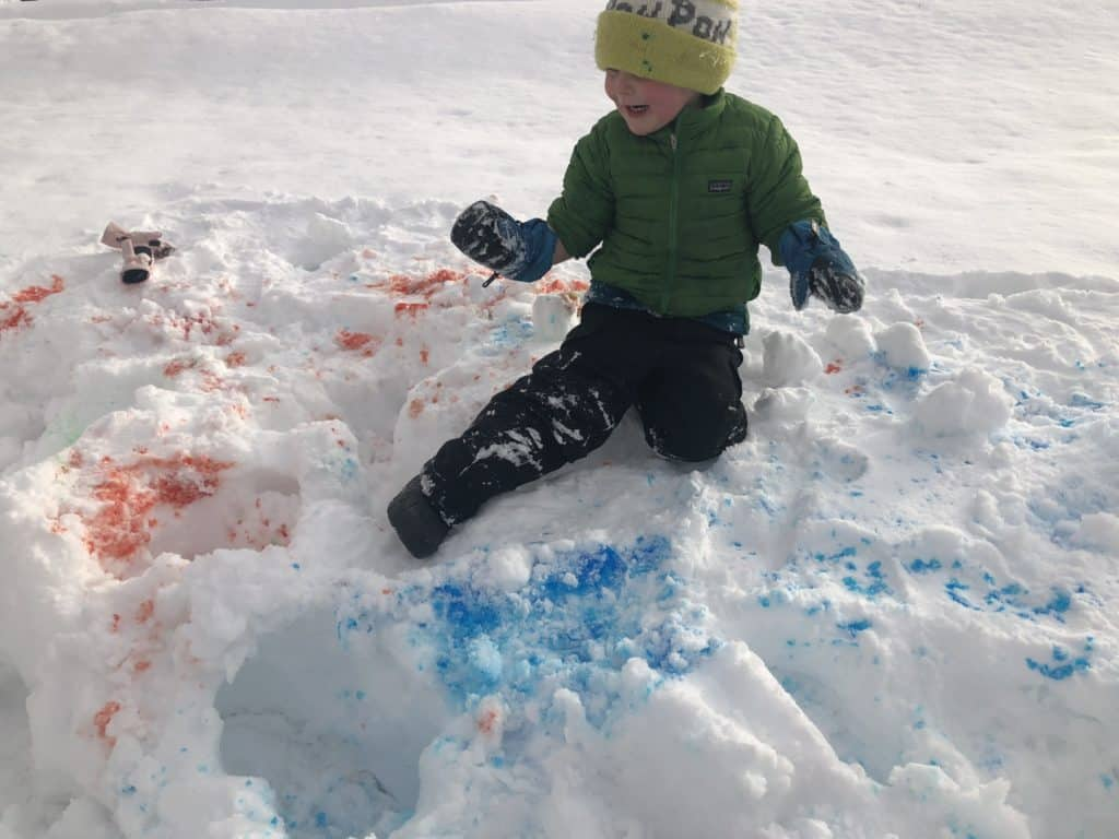 snow paint fun