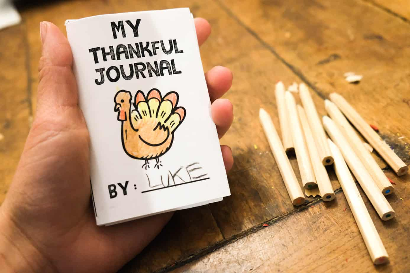printable thankful journal for kids free