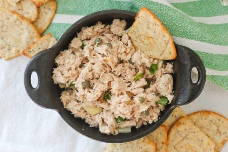 Healthy Tuna Salad with Wasabi - NO MAYO!