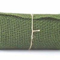 Olive Green Burlap Ribbon Roll