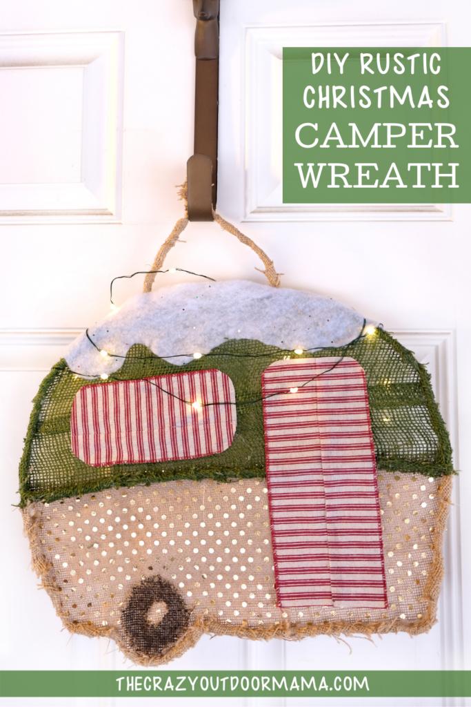 diy camping themed christmas decor idea camper wreath