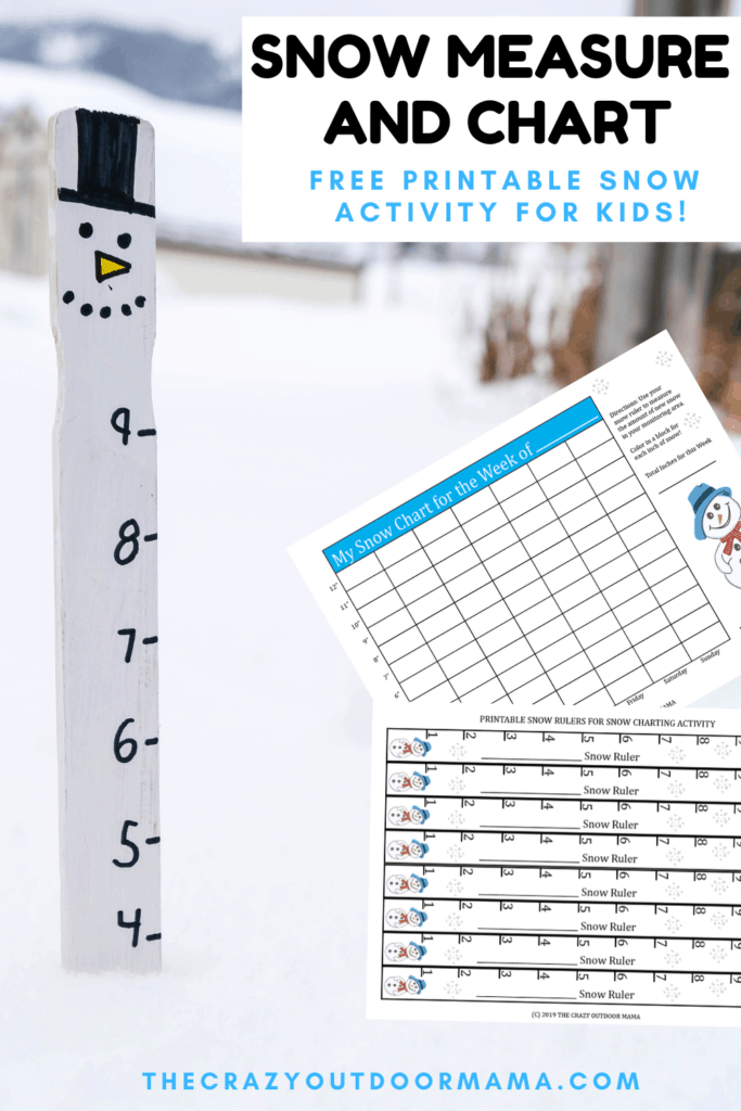 DIY SNOW CHART AND MEASURING STICK