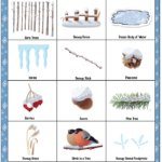 winter nature hike kids printable scavenger hunt