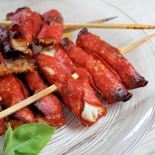 Chick-a-Roni Skewers: Keto Appetizers
