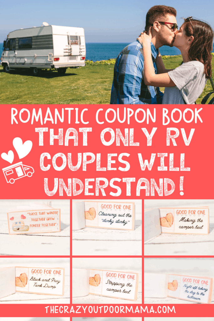 romantic camping coupon book for couples