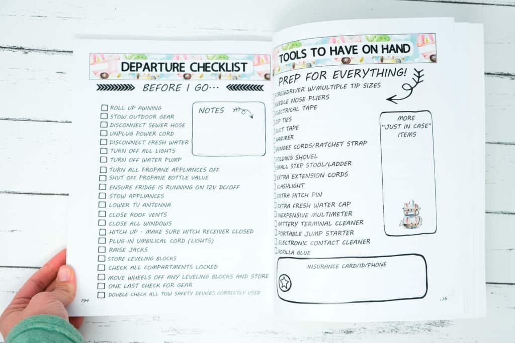 departure checklist for rvs