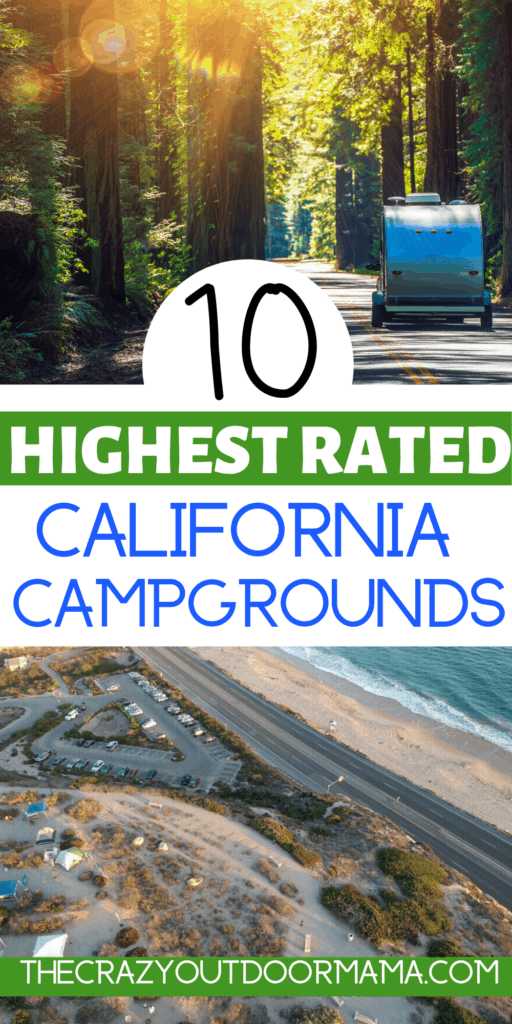 10 of the highest rated camping spots in california for rvs
