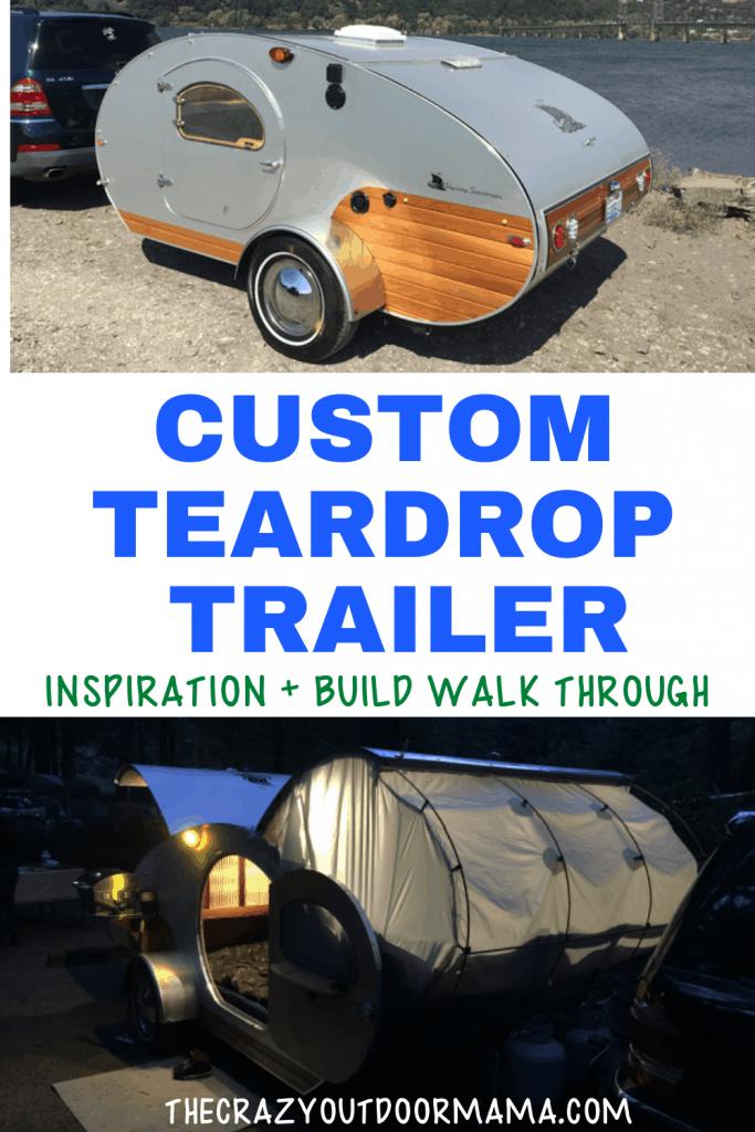 teardrop trailer for sale wooden