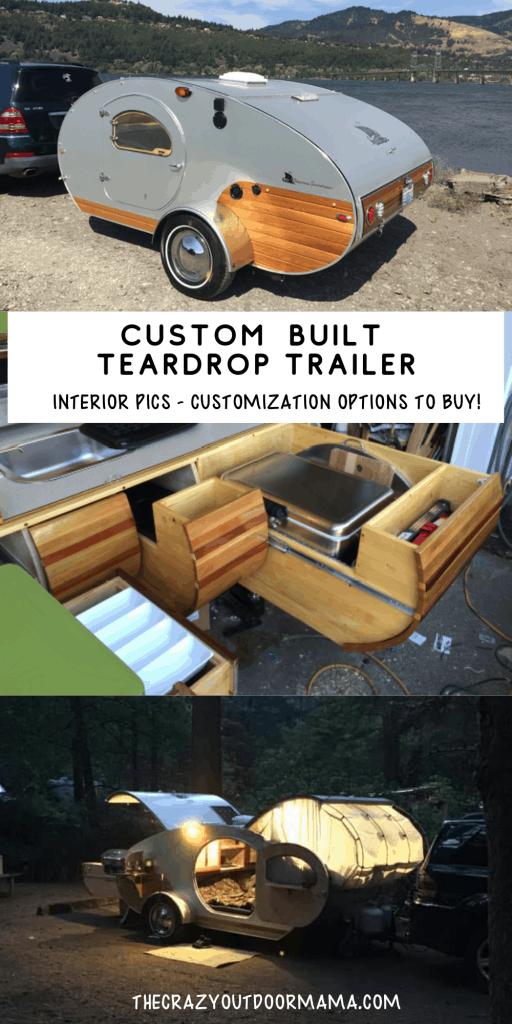 custom wood teardrop trailer to buy