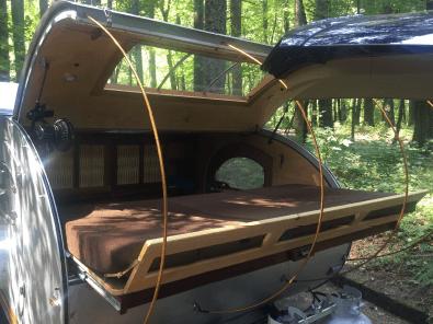 slide out bed in teardrop trailer