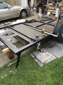 teardrop trailer base homemade