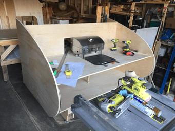 building process for teardrop trailer