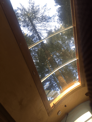 stargazer window in teardrop trailer