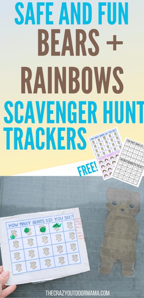 neighborhood walk bears rainbows scavenger hunt info