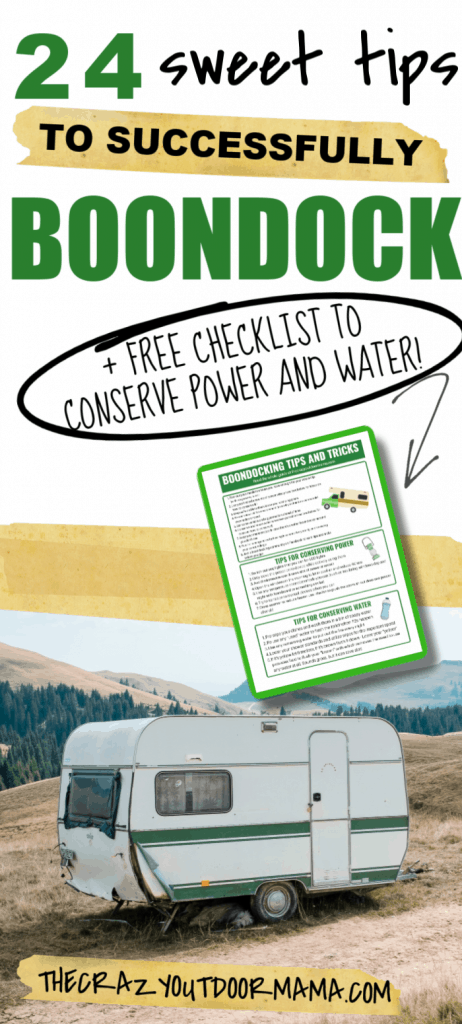 BOONDOCKING TIPS FOR POWER AND WATER CONSERVATION