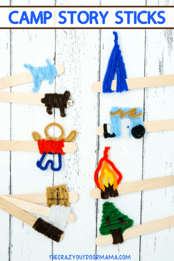 CAMP CRAFTS WITH POPSICLE STICK AND PIPECLEANER