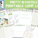 color camping journal printable templates