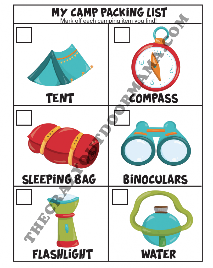 CAMP MATCHING GAME