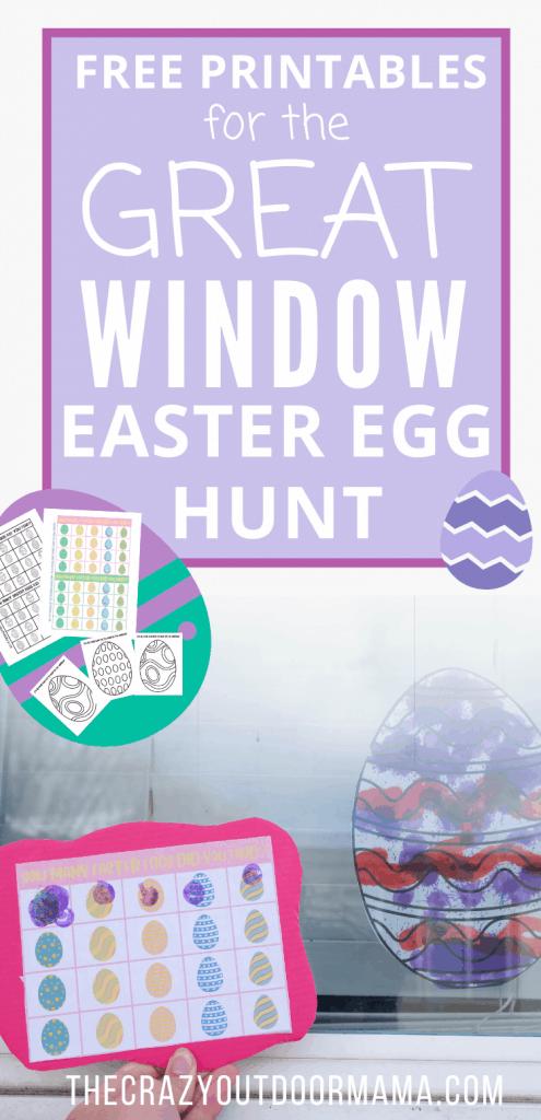 free printable easter window hunt game kids