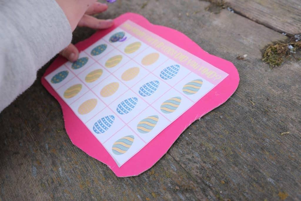printable window easter egg hunt cards