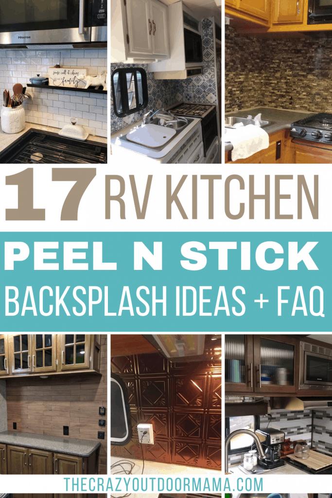 17 Peel And Stick Kitchen Rv Backsplash Ideas The Crazy Outdoor Mama
