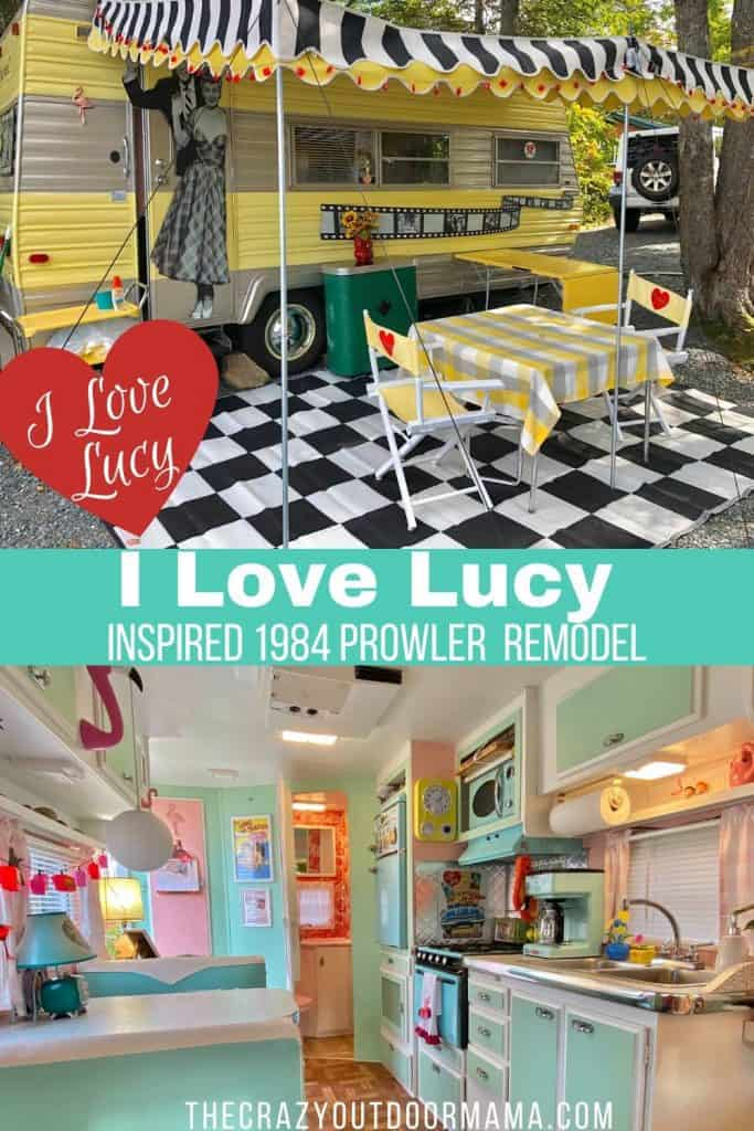 I LOVE LUCY INSPIRED CAMPER REMODEL