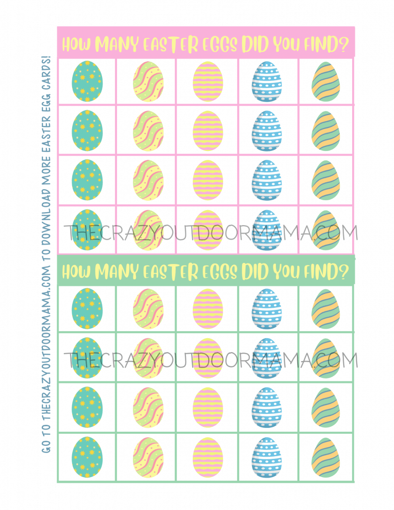 window easter egg hunt activity for kids free printable