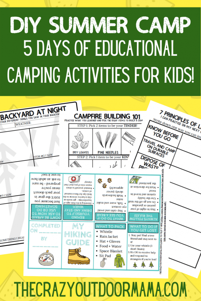 DIY SUMMER CAMPING ACTIVITY IDEAS FOR KIDS