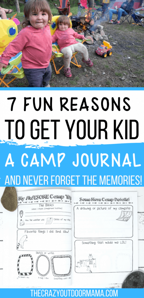 KIDS CAMPING ACTIVITY JOURNAL AND LOG