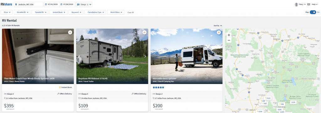 how to rent rv near you