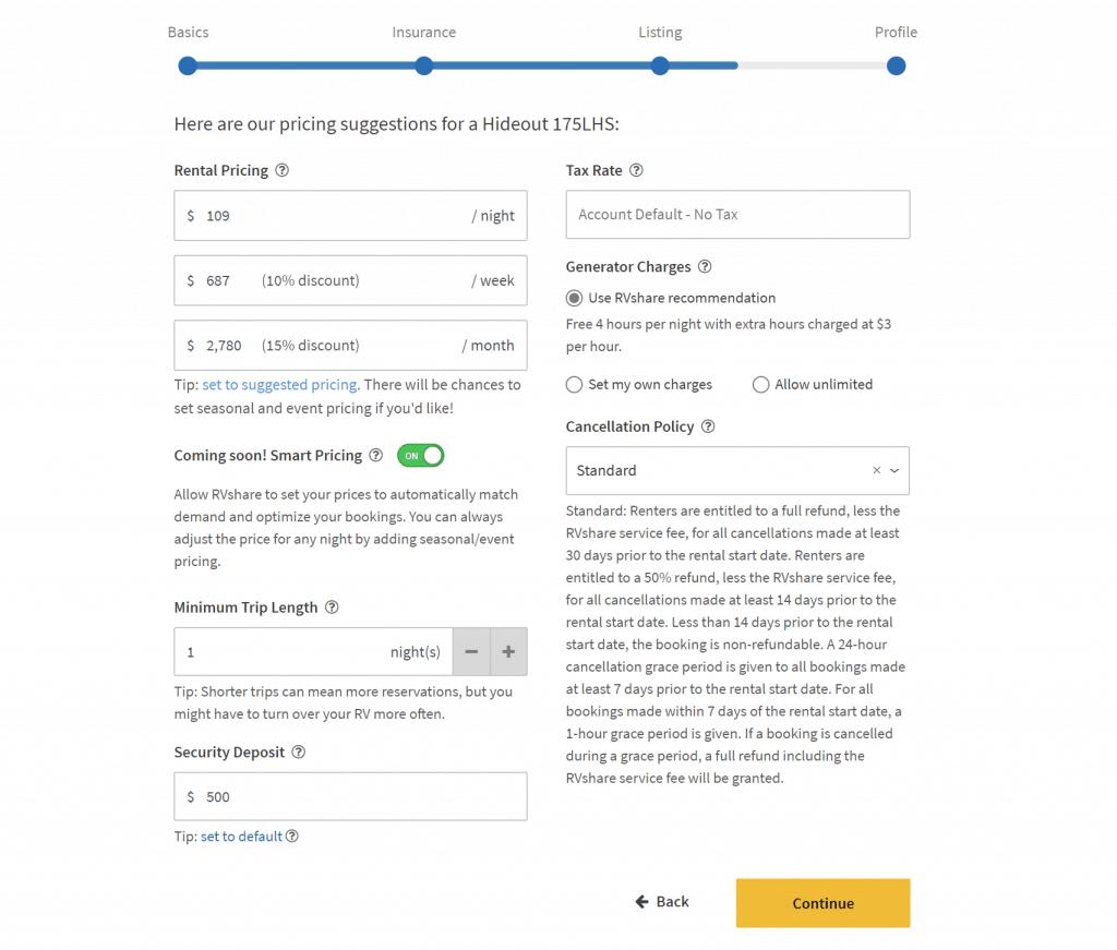 how to make a good rv rental listing on rvshare