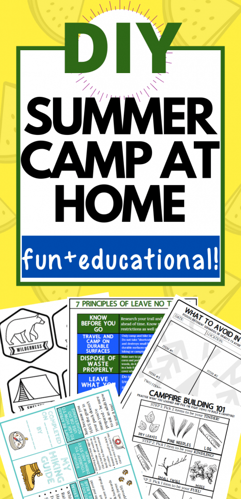 diy summer camp at home for kids