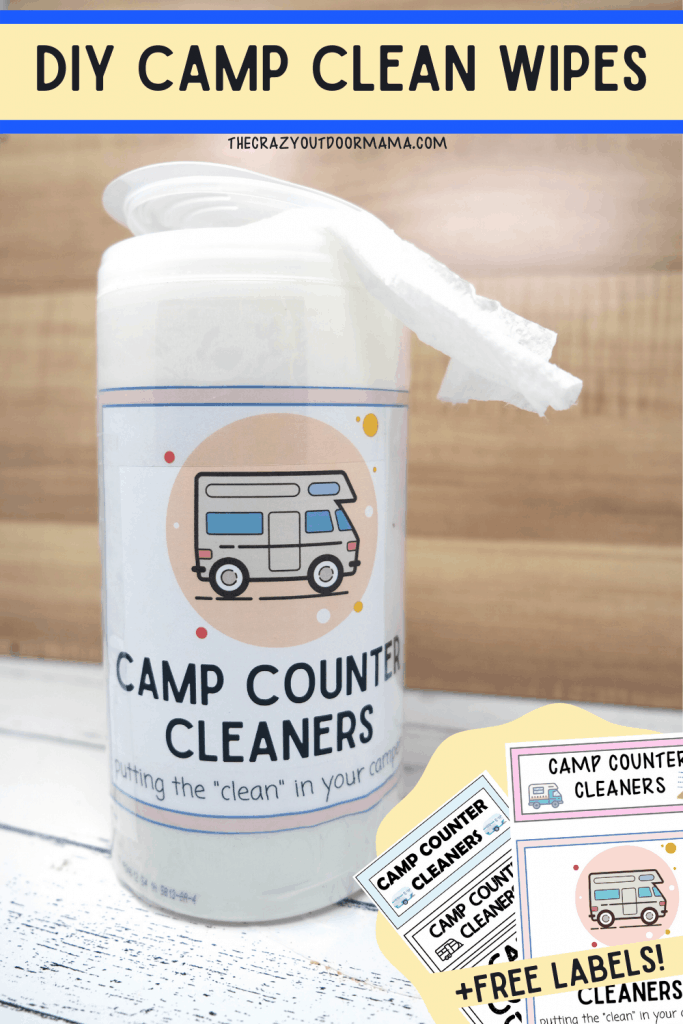 diy cleaning wipes for counters while camping