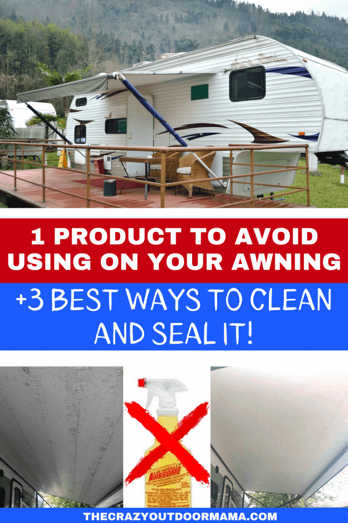 how to clean rv awning of mold and mildew