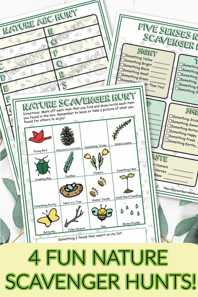NATURE SCAVENGER HUNTS FOR KIDS