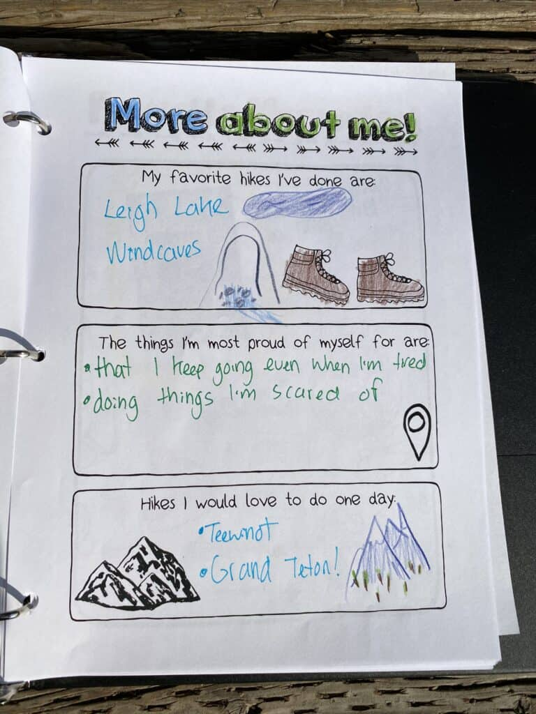 hiking quiz printable for kids