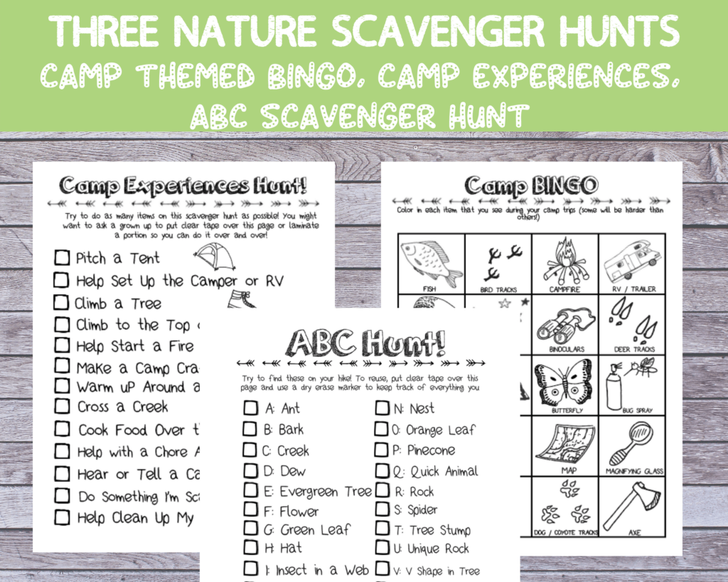 nature scavenger hunt activities for summer camp