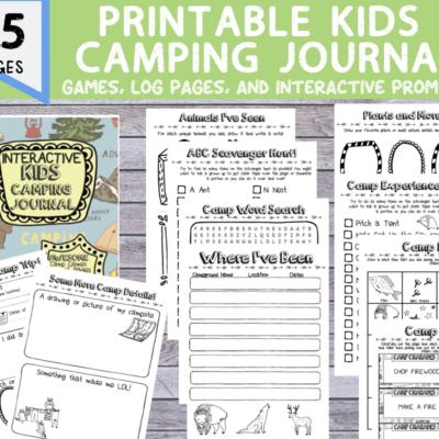 kids camping journal diy
