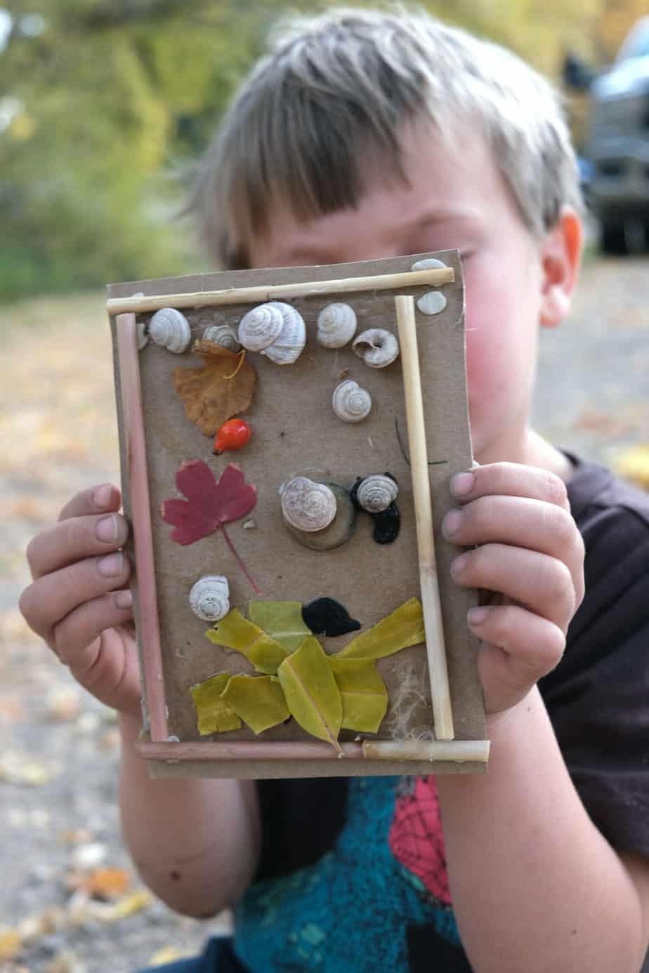 fall impression art for kids