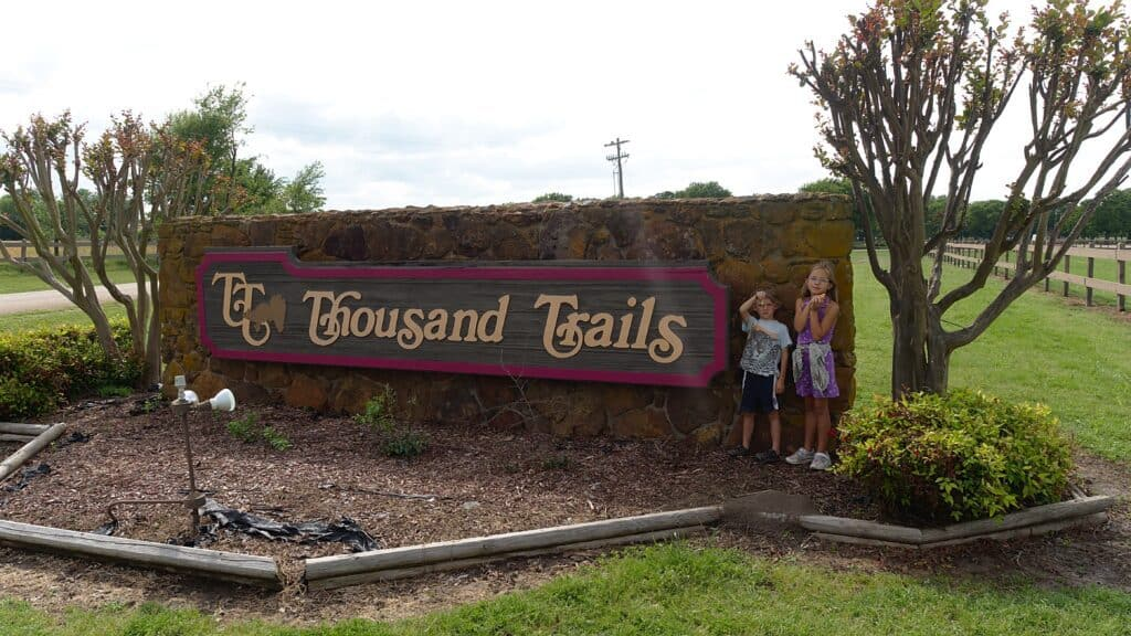 thousand trails membership is a good way for kids to socialize while traveling