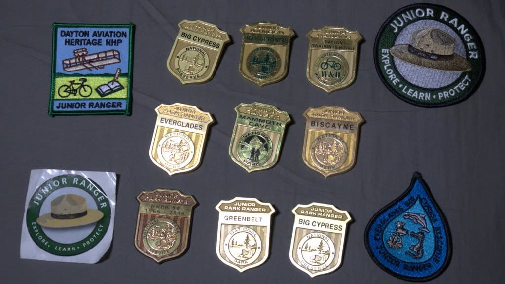 junior ranger program to help in learning on the road
