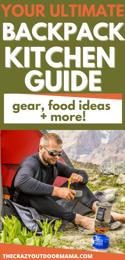 backpacking kitchen guide man eating food outside tent