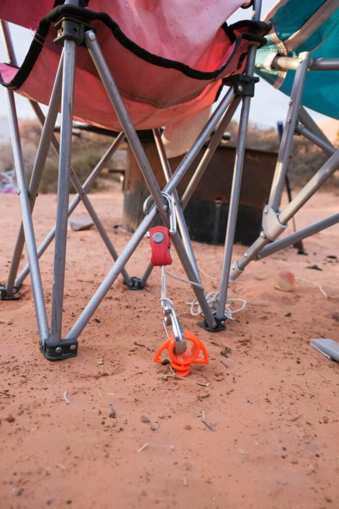 how to make kids camp chair safe with beyond bungee tying down camp chair