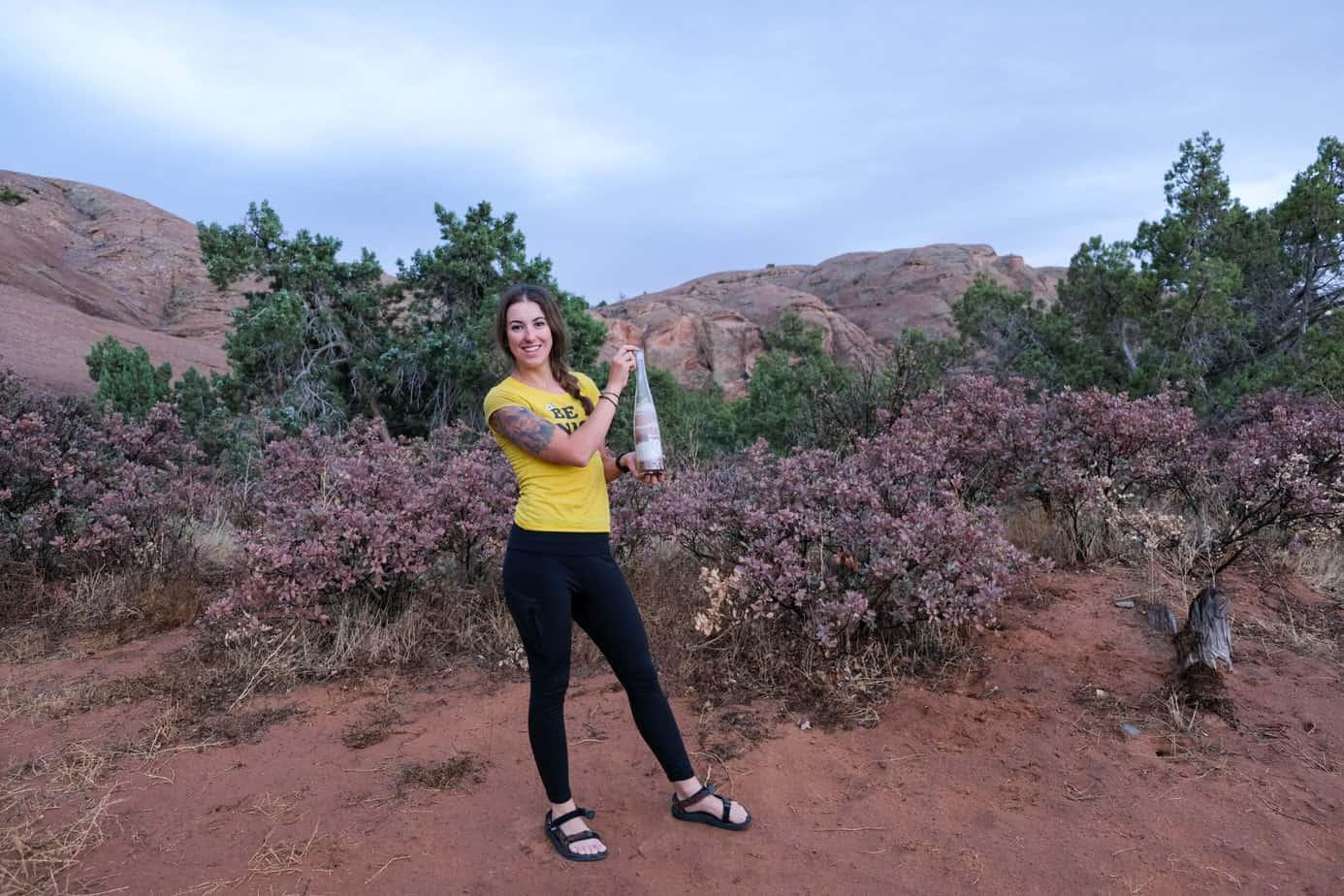 wine bottle craft in desert